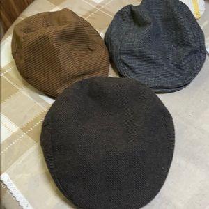 Bundle of 3 large wool caps
